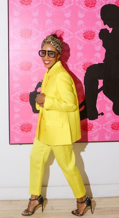 June Ambrose  Maison Rabih Kayrouz Suit
